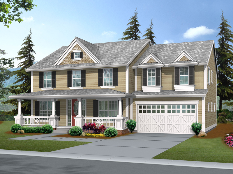 Suson oak colonial home plan 071d 0148 house plans and more House plans with front porches