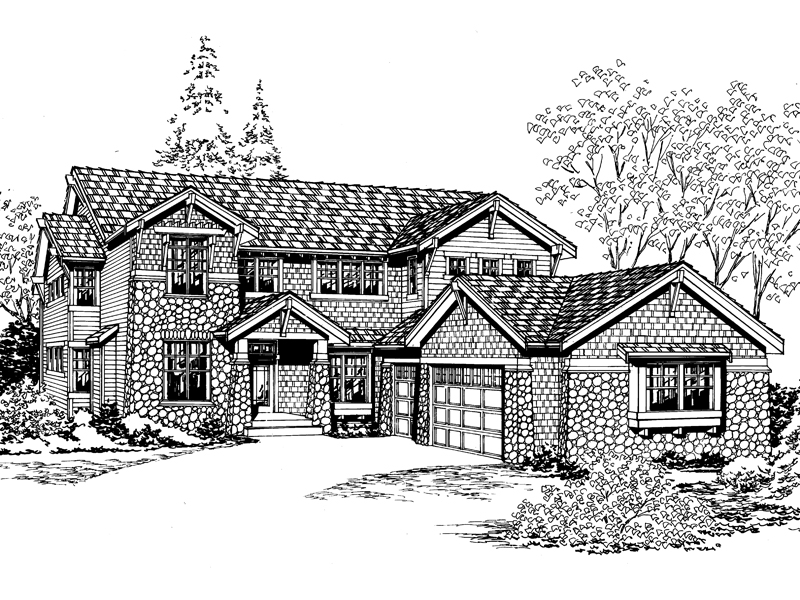 Modern House Plan Front Image of House - 071D-0150 | House Plans and More
