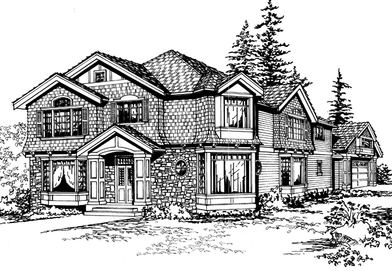Luxury House Plan Front Image of House - 071D-0157 | House Plans and More