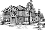 Craftsman Home Features Interesting Angles