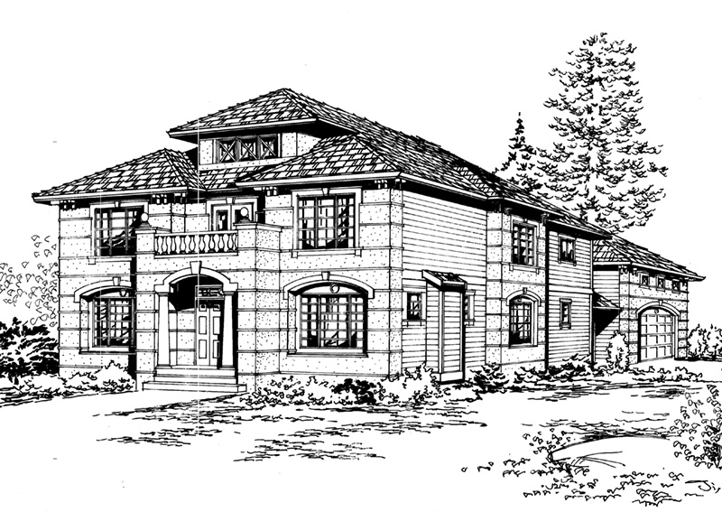 European House Plan Front Image of House - 071D-0159 | House Plans and More