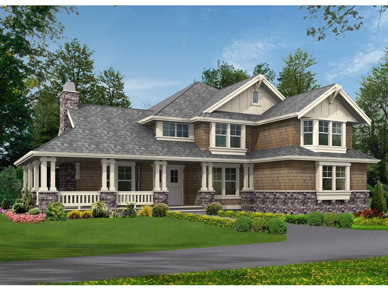 lovely farmhouse with delightful front porch - Classic Farmhouse Plans