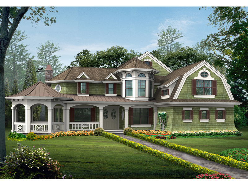 Luxurious Counttry Home With Victorian Gazebo Porch