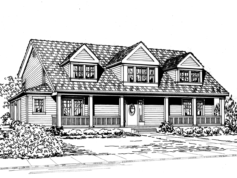 Waterfront House Plan Front Image of House - 071D-0165 | House Plans and More