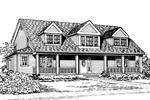Luxury House Plan Front Image of House - 071D-0165 | House Plans and More