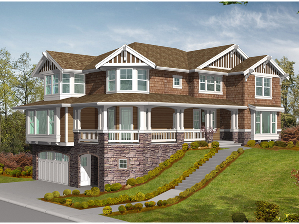 28+ [ house plans for sloped lots ] | multi family sloping lot