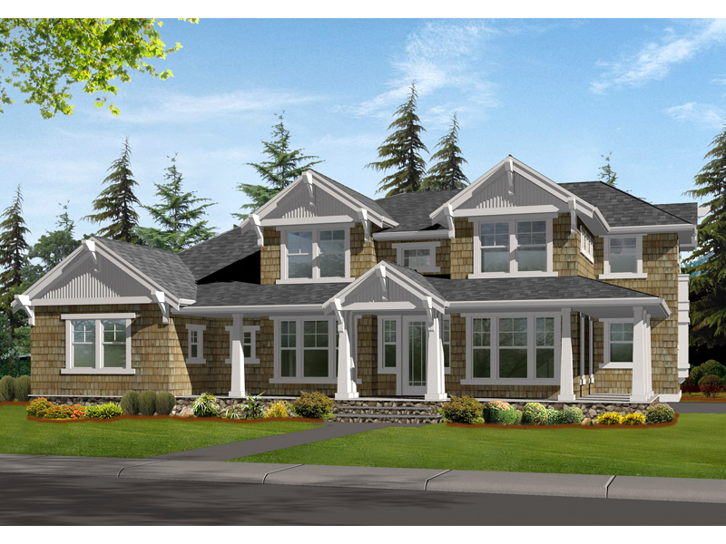 Carberry craftsman home plan 071d 0172 house plans and more for Symmetrical house plans