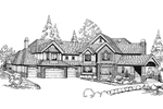 Tudor House Plan Front Image of House - 071D-0210 | House Plans and More