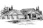 Great Ranch Home Has Three Car Garage
