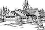Ranch House Plan Front Image of House - 071D-0224 | House Plans and More