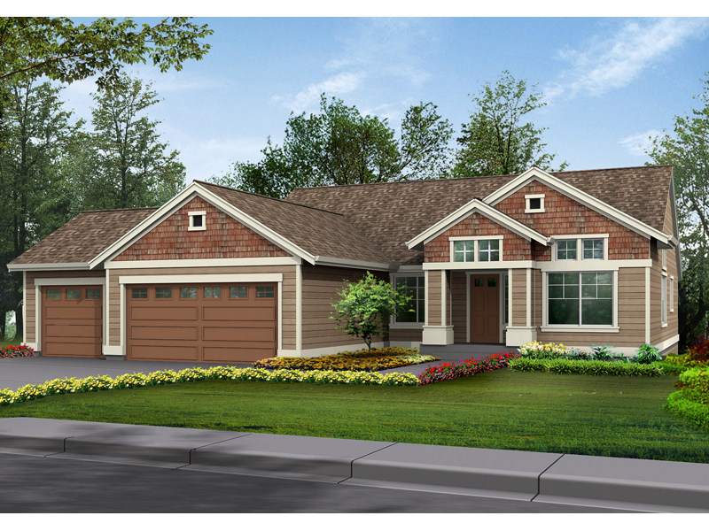 Ranch House Plan Front of Home - 071D-0227 | House Plans and More