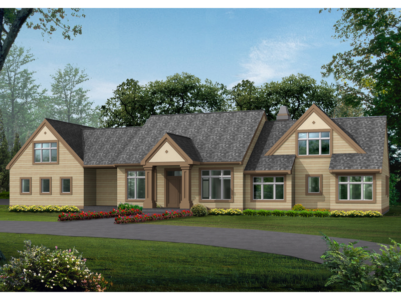 Sleek Craftsman House Plan With Prominent Windows