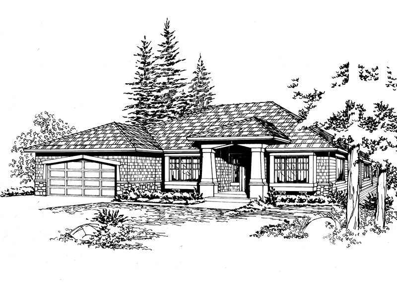 Craftsman House Plan Front Image of House - 071D-0233 | House Plans and More