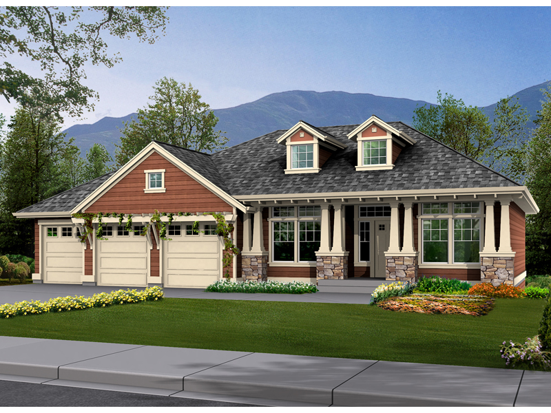 Fischer craftsman style home plan 071d 0234 house plans for Home plans and more