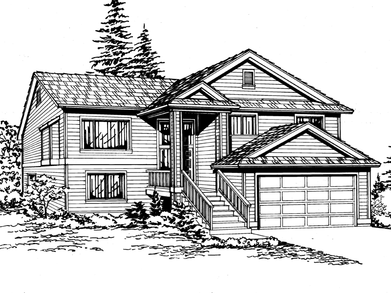 Garden Park SplitLevel Home Plan 071D0239 House Plans and More