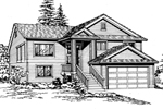Traditional House Plan Front Image of House - 071D-0239 | House Plans and More