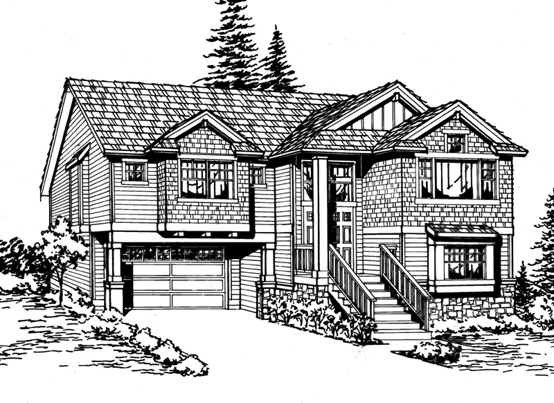 Craftsman House Plan Front Image of House - 071D-0240 | House Plans and More