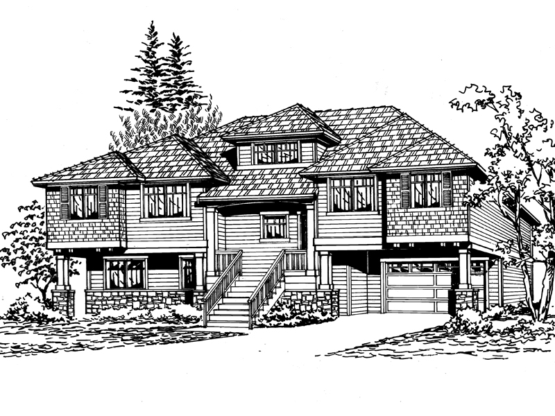 Multi-Level House Design Has Craftsman And Rustic Appeal