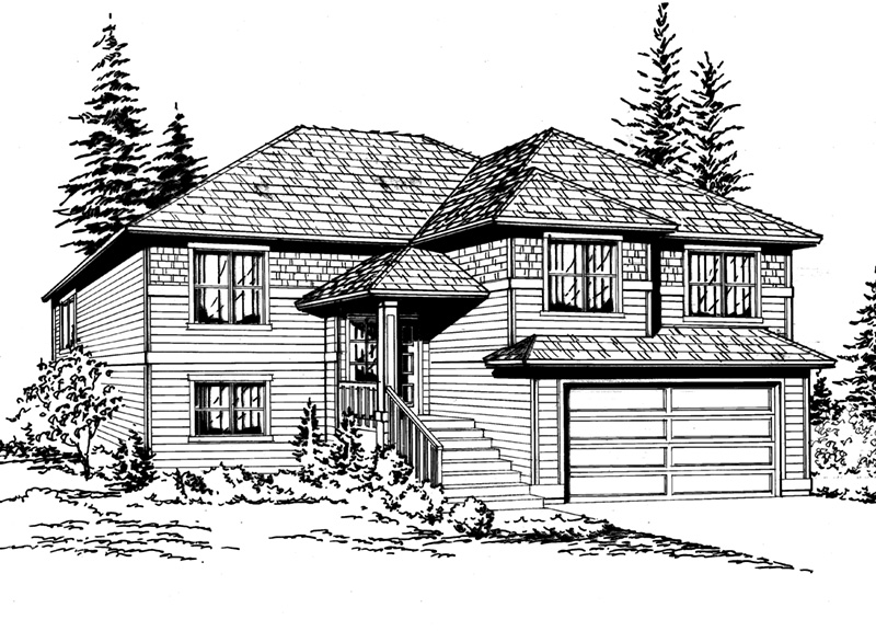 Traditional House Plan Front Image of House - 071D-0243 | House Plans and More