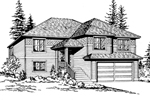 Traditional Style Two-Story Home Design