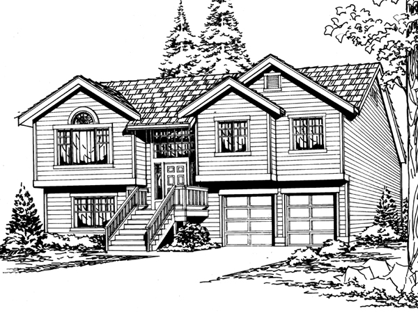 sagemeadow split level home plan 071d 0244 house plans and more