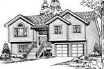Traditional House Plan Front Image of House - 071D-0244 | House Plans and More