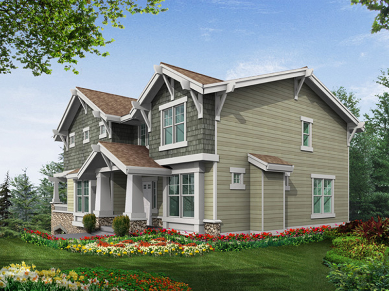Arts & Crafts House Plan Color Image of House - 071D-0248 | House Plans and More