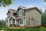 Arts and Crafts House Plan Color Image of House - 071D-0248 | House Plans and More