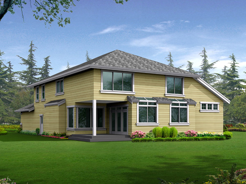 Traditional House Plan Color Image of House - 071D-0249 | House Plans and More
