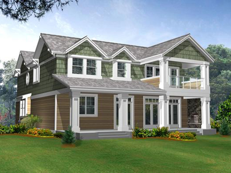 Lake House Plan Color Image of House - 071D-0250 | House Plans and More
