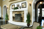 Luxury House Plan Fireplace Photo 01 - 071S-0002 | House Plans and More