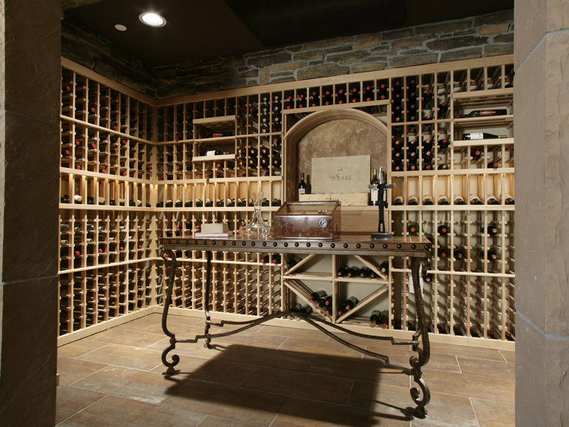 Shingle House Plan Wine Cellar Photo 071S-0002