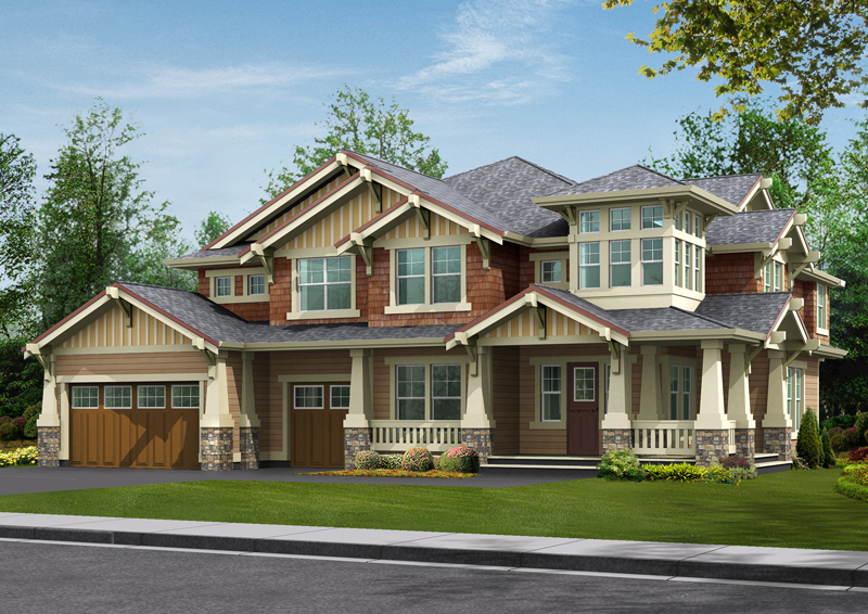 Rustic Wood Craftsman Style Home Design