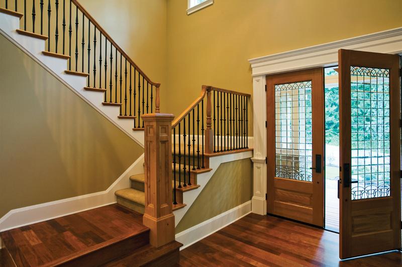 Foyer Plan You Tube : Ackerman place craftsman home plan s house plans