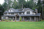 Sprawling Craftsman Detailed Two-Story House Design