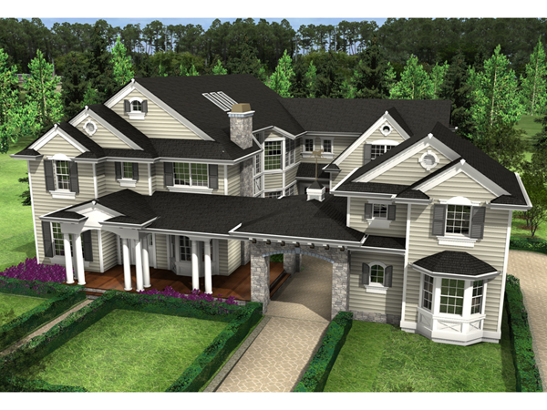 Rochester mill luxury home plan 071s 0027 house plans for Porte cochere homes