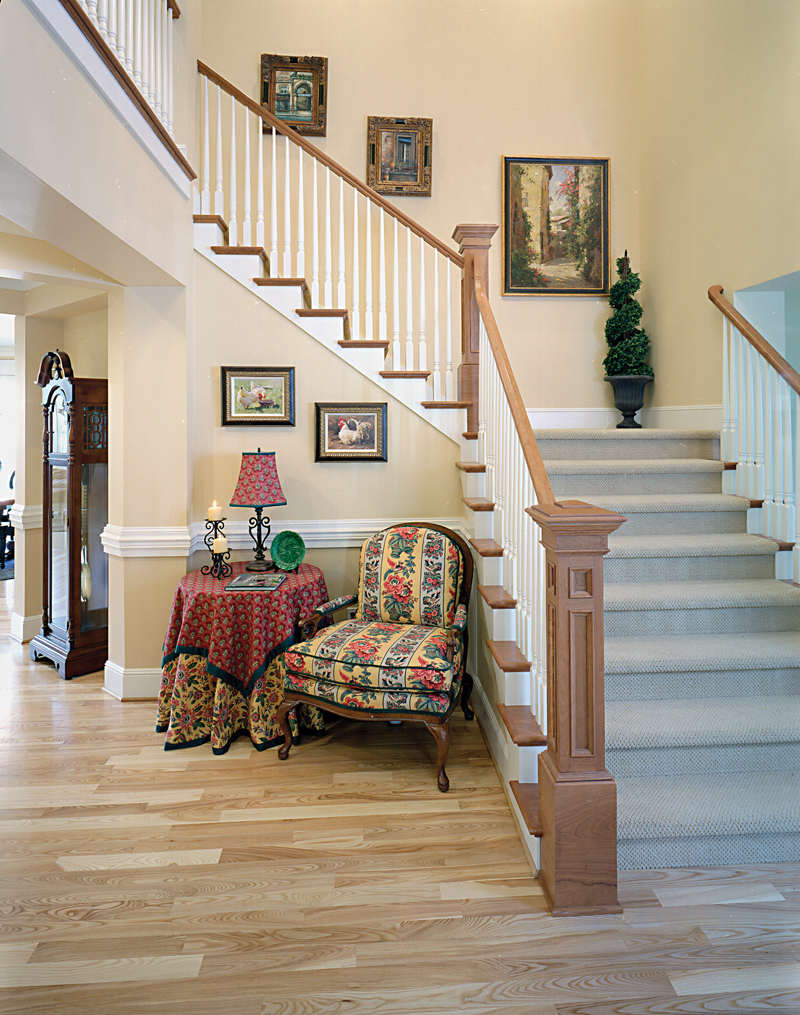 Arts Crafts House Plan Stairs Photo