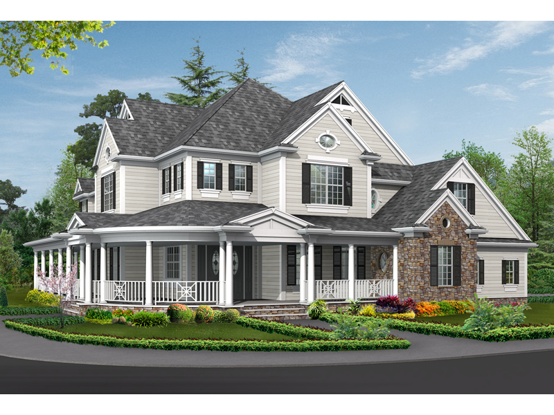 luxury house plan front image 071s 0032 house plans and more - Country Home Plans
