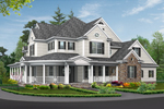 Colonial House Plan Front Image - 071S-0032 | House Plans and More