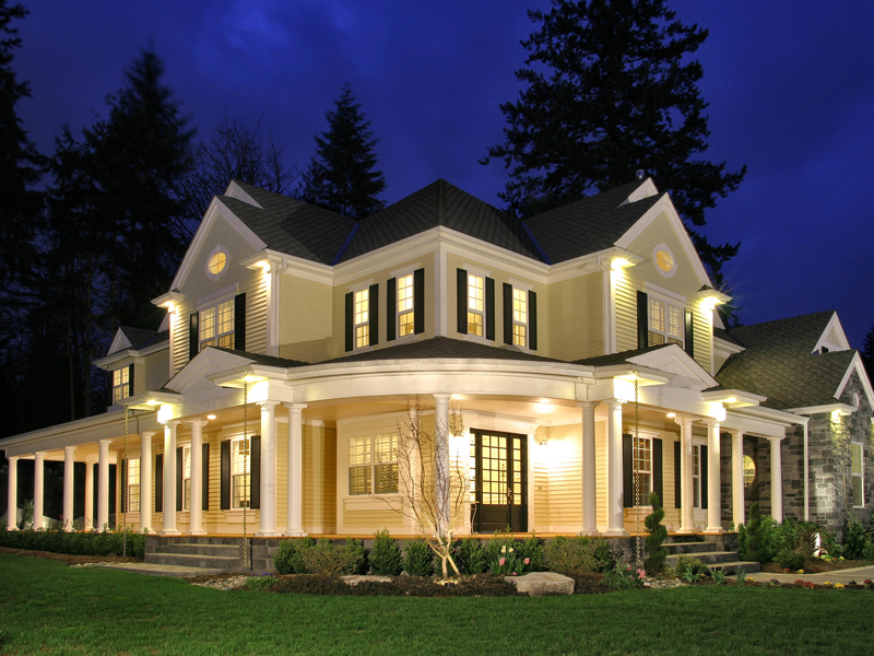 home has lovely country style - Country House Plans