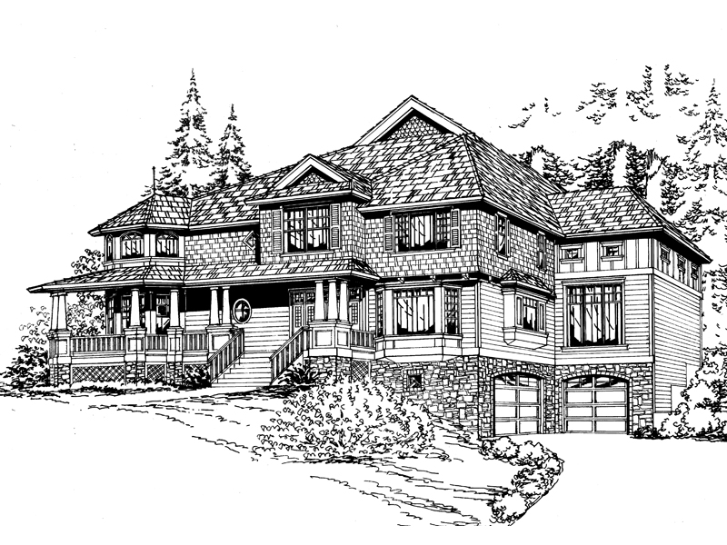 Amalfi Luxury Craftsman Home Plan 071S 0043 House Plans and More