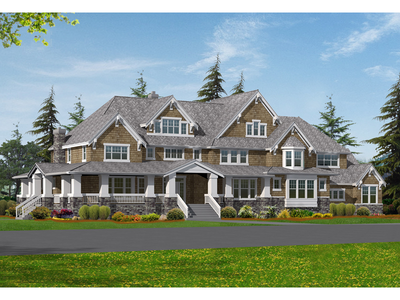 Luxury Craftsman Designed Two Story Home Design