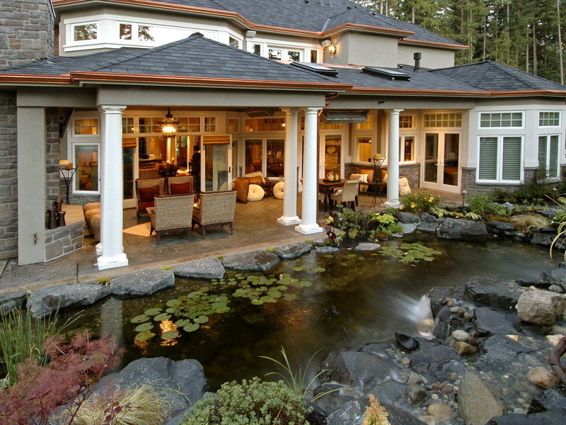 Luxury House Plan Outdoor Living Photo Plan S    House    Luxury House Plan Outdoor Living Photo S