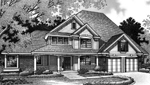 Arts and Crafts House Plan Front Image of House - 072D-0005 | House Plans and More