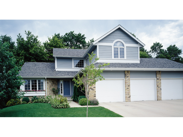 Two-Story House plan with large front loading three-car garage