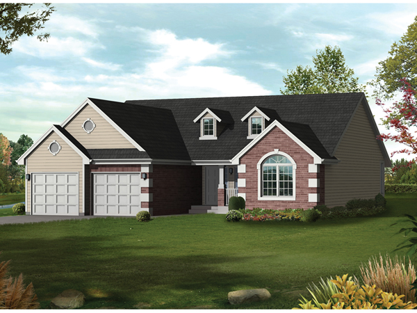 Kylemore Traditional Ranch Home Plan 072d 0038 House