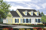 Cape Cod Style Home Has A Trio Of Dormers