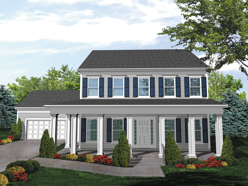 Judy jane colonial home plan 072d 0042 house plans and more for Two story colonial house plans