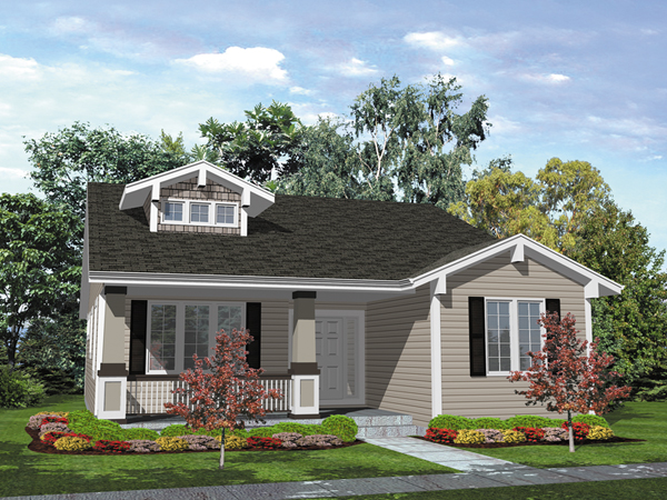 Bungalow Style House With Craftsman Accents