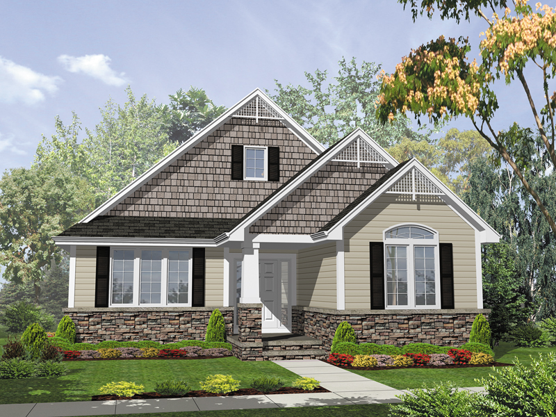 Southern House Plan Front of Home - 072D-0058 | House Plans and More